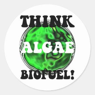 藻の生物燃料を考えて下さい! ラウンドシール