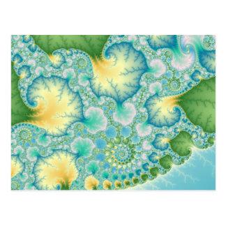 藻-フラクタル ポストカード