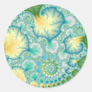藻-フラクタル ラウンドシール