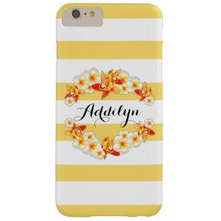 蘭およびエレガントなプルメリアの花 BARELY THERE iPhone 6 PLUS ケース