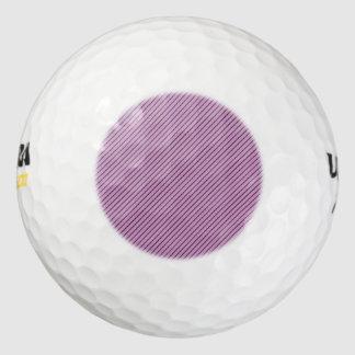 蘭および黒のストライプ ゴルフボール