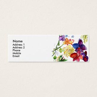 蘭のおもしろいのプロフィールカード白 スキニー名刺