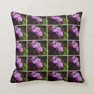 蘭のアメリカ人のMoJoの紫色の枕 クッション