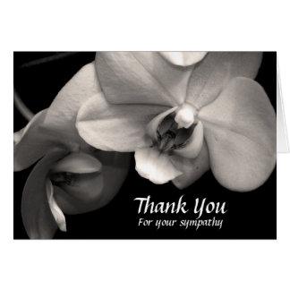 蘭のセピア色の悔やみや弔慰はメッセージカード感謝していしています カード