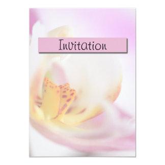 蘭のパーティーの発表の招待状 カード