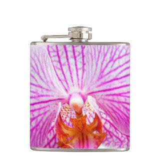 蘭のピンクのアジア花の花柄 フラスク