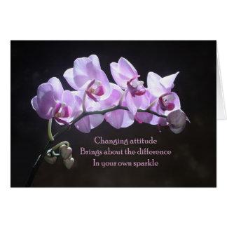 蘭の挨拶状-変更の態度 カード