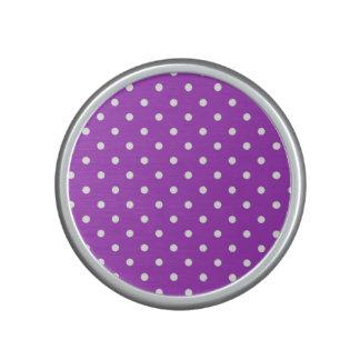 蘭の水玉模様のBumpsterの暗いスピーカー ポータブルスピーカー