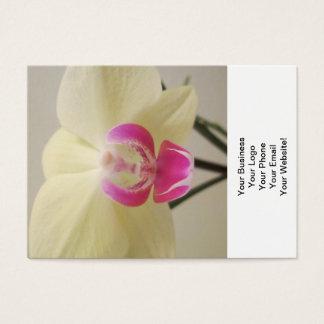 蘭の白いピンク 名刺