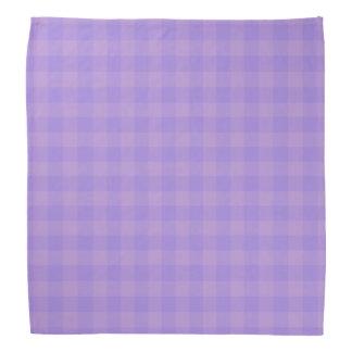 蘭の紫色のギンガムのバンダナ バンダナ