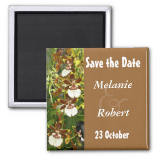 蘭の結婚式の保存日付 磁石