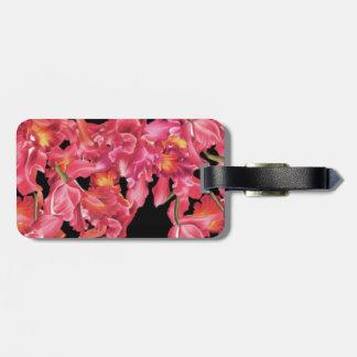蘭の花の荷物のラベル ラゲッジタグ
