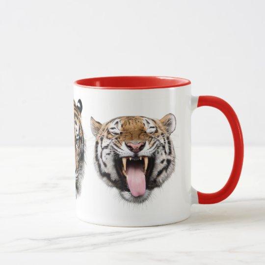 虎たちの顔 マグカップ