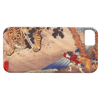 虎と闘う少年によって、男の子はトラ、Kuniyoshi、Ukiyo-eが戦います iPhone SE/5/5s ケース