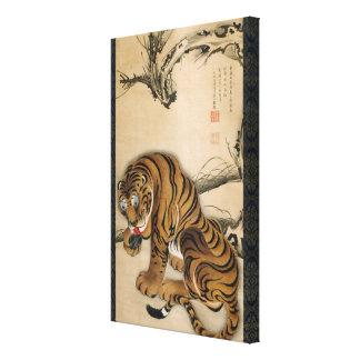 虎図、若冲のトラ、Jakuchuの日本芸術 キャンバスプリント