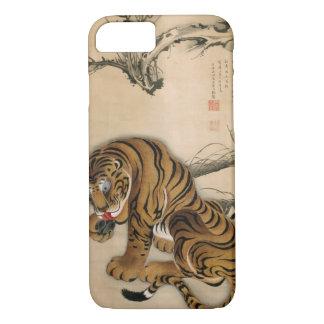 虎図、若冲のトラ、Jakuchūの日本芸術 iPhone 7ケース