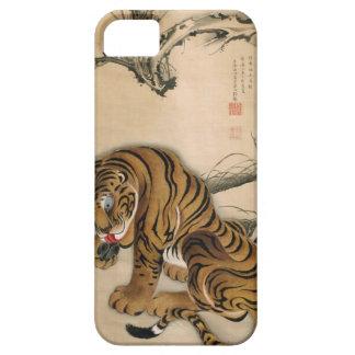 虎図、若冲のトラ、Jakuchūの日本芸術 iPhone SE/5/5s ケース