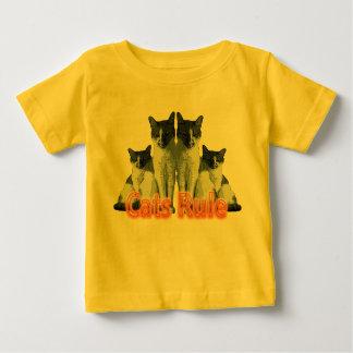 """虎猫か白い猫""""猫規則"""" ベビーTシャツ"""
