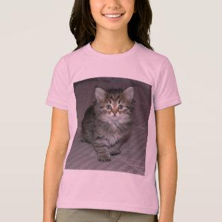 虎猫の子ネコのワイシャツ Tシャツ