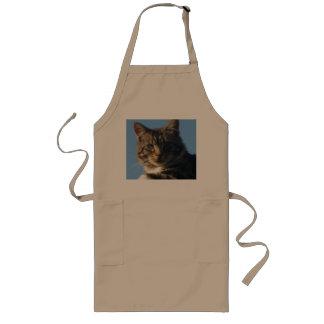 虎猫の子ネコ-長いエプロン ロングエプロン