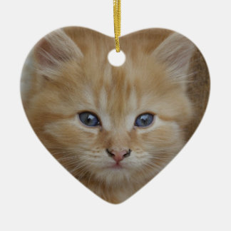 虎猫の雄猫の子ネコ セラミックオーナメント