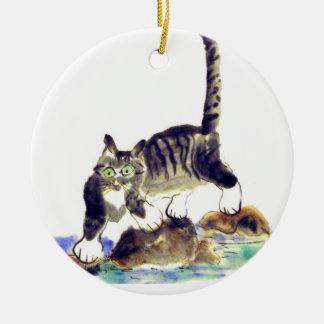 虎猫のTREK -トラの子猫の冒険 セラミックオーナメント
