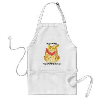 虎猫は空腹です! おもしろいな猫のエプロン スタンダードエプロン