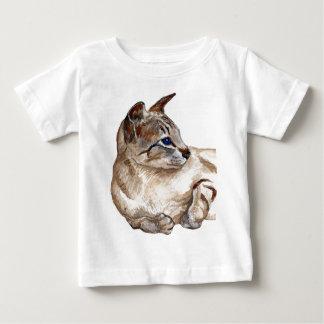 虎猫ポイントシャム猫 ベビーTシャツ