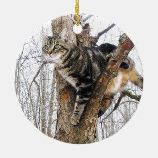 虎猫猫のオーナメント セラミックオーナメント