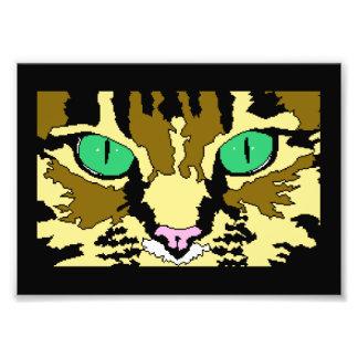 虎猫猫のデジタル芸術ポスター フォトプリント