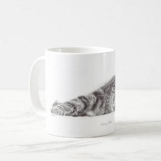 虎猫猫の芸術、猫のマグ、猫の恋人のためのマグ コーヒーマグカップ