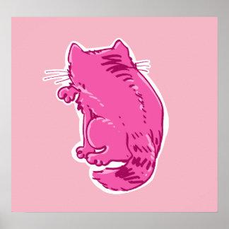 虎猫猫の菓子の漫画を舐めること ポスター