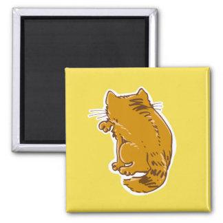 虎猫猫の菓子の漫画を舐めること マグネット
