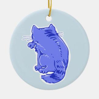 虎猫猫の菓子の漫画を舐めること 陶器製丸型オーナメント