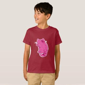 虎猫猫の菓子の漫画を舐めること Tシャツ