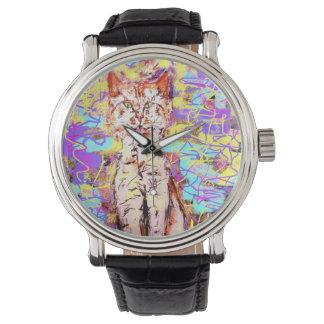 虎猫猫のpopart 腕時計