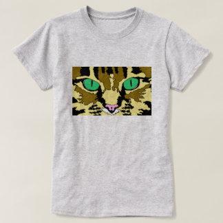 虎猫猫のTシャツ Tシャツ