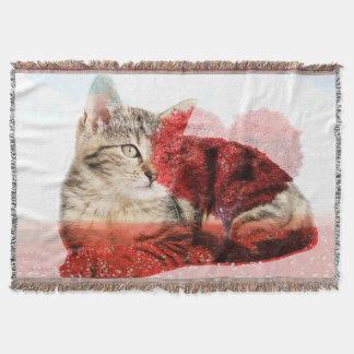 虎猫猫毛布 スローブランケット
