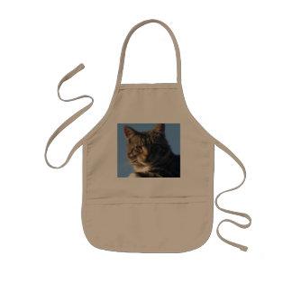 虎猫猫-子供のエプロン 子供用エプロン