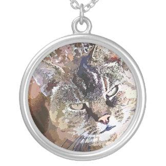 虎猫CAT シルバープレートネックレス
