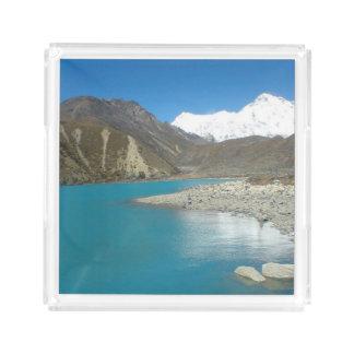 虚栄心の香水の皿のネパールヒマラヤ山脈山のギフト トレー