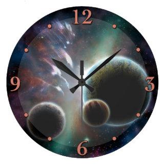 虚構の宇宙場面惑星の天文学の時計 ラージ壁時計