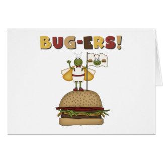 虫およびハンバーガー カード