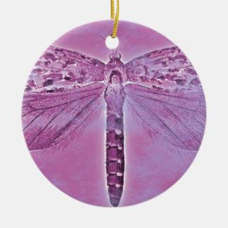 虫のコレクション-紫色のトンボ セラミックオーナメント