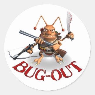 虫のゴキブリ様式 ラウンドシール