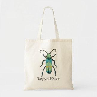 虫の昆虫の図書館のバッグ トートバッグ