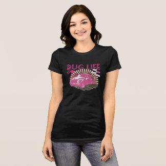 虫の生命ピンク Tシャツ