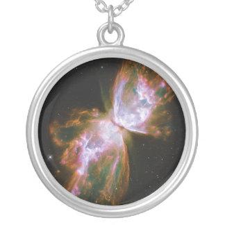 虫の蝶星雲NGC 6302 Caldwell 69 シルバープレートネックレス