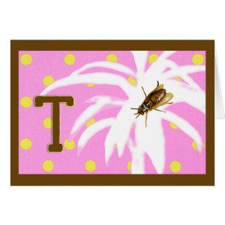 虫のA-Z (ツェツェバエのためのT)のための韻 カード