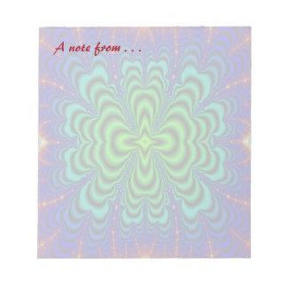 虫食い穴のフラクタルのネオン緑の宇宙の管 ノートパッド